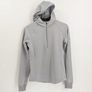 Nike Dri Fit Silver Grey Half Zip Running Jacket